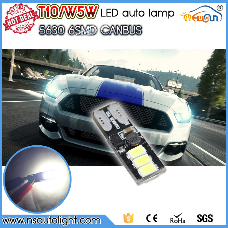 Newsun good quality led interior lights t10 canbus for car free error