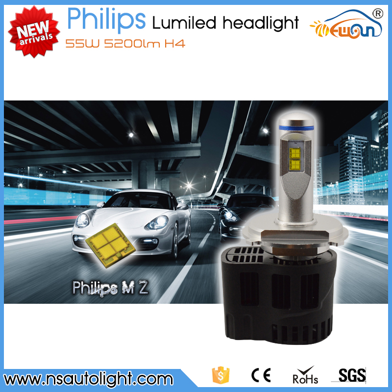 Newsun NEW products 55W 5200LM led car P6 LED headlights nichia h4