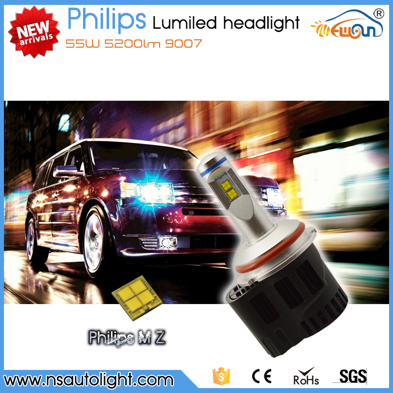 Newsun super bright H4 H7 H8 H12 H15 HB3 HB4 9004 9005 9006 9007 55W high power led driving lamp 5000K lights fot cars