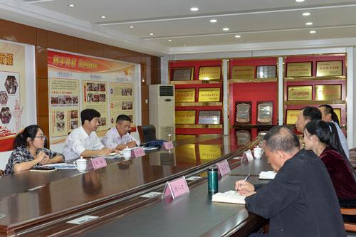 郊区人大常委会副主任黄建国一行莅临新能集团开展代表走访活动