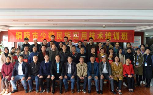 铜陵市少数民族实用技能培训班成功举办