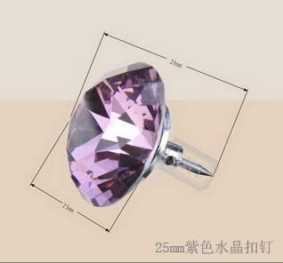 25mm粉色水晶扣钉