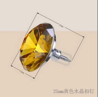 25mm金色水晶扣钉