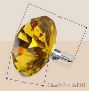 30mm金色水晶扣钉
