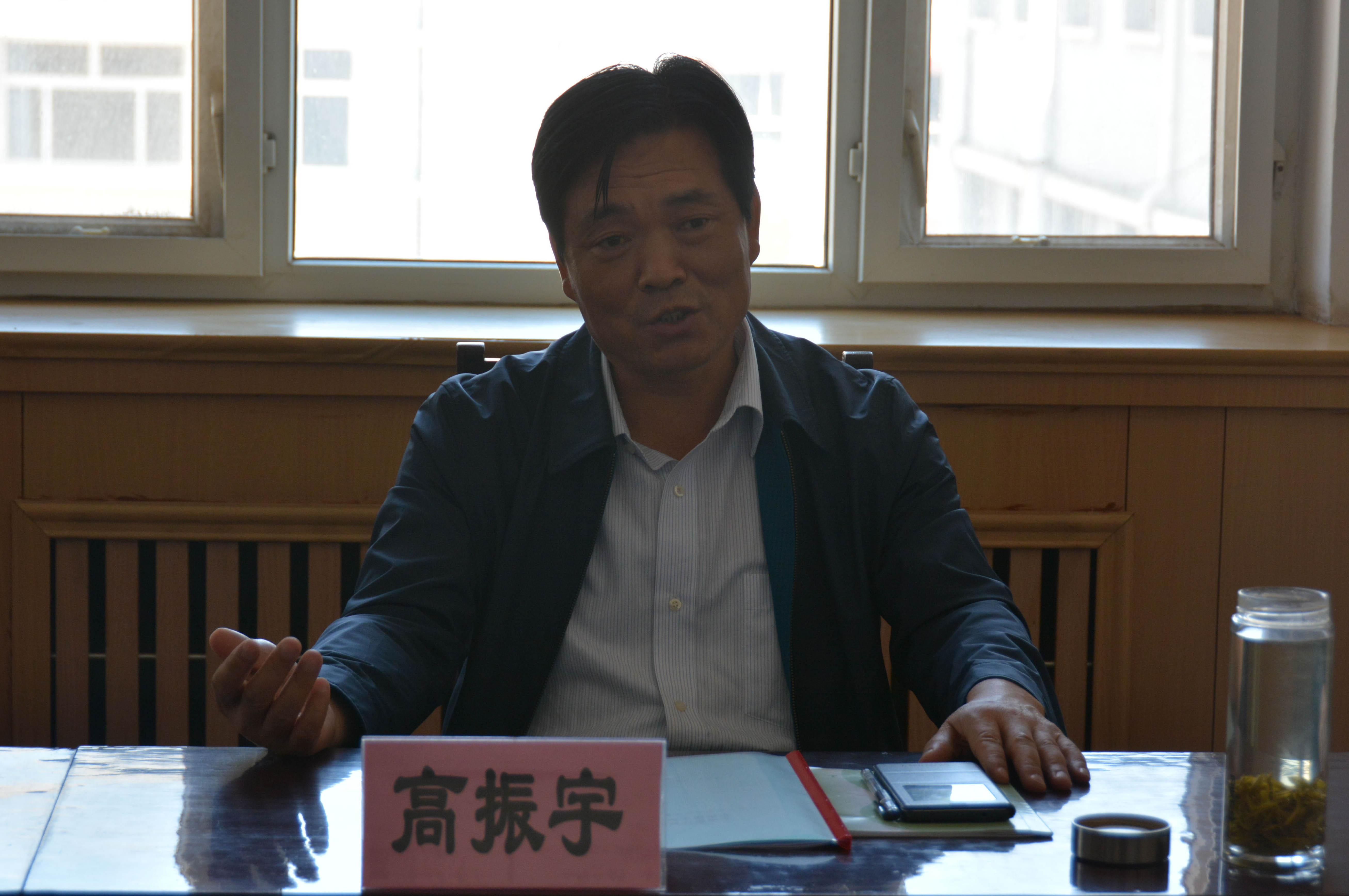 5月17日,省地矿局党组副书记、副局长高振宇来校指导作风整顿推进工作。
