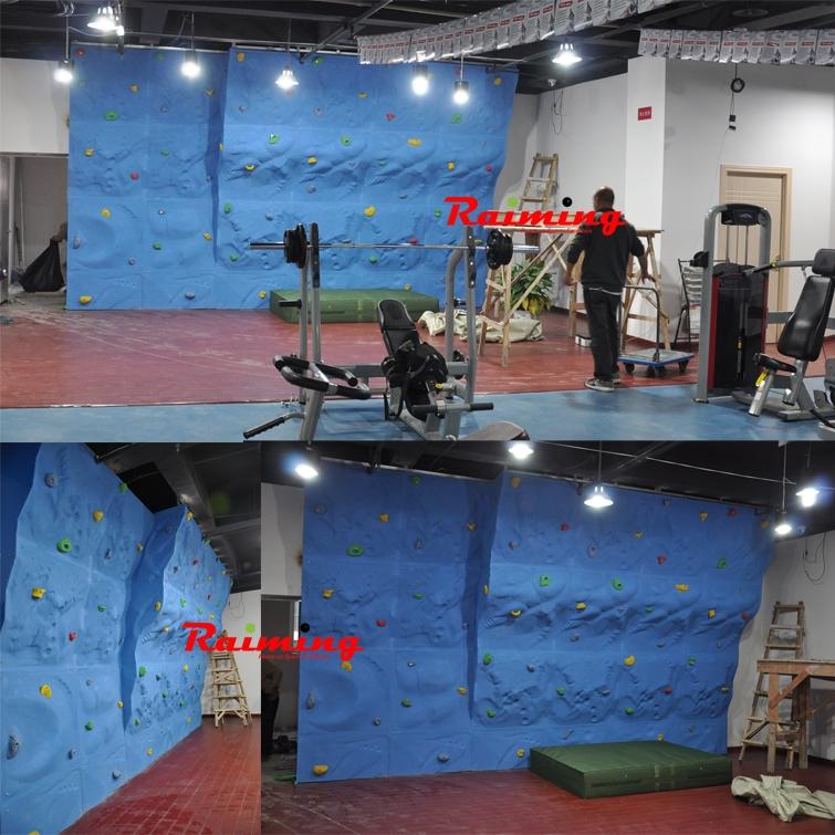 南京莱美健身俱乐部室内攀岩墙