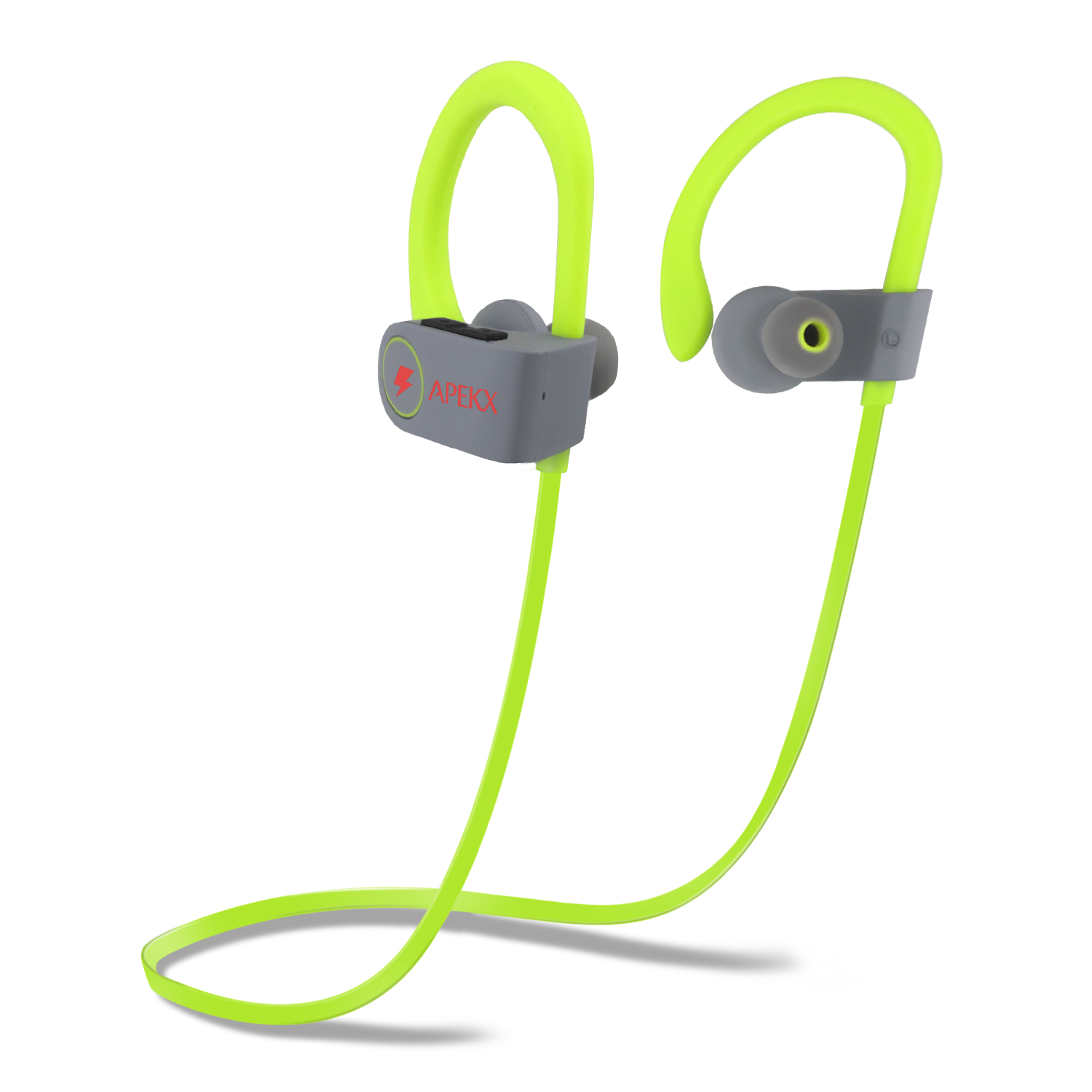 Apekx Bluetooth Earbuds Sport Wireless Headphones In Ear Lightweight For Running Gym Sweatproof Secure Fit Headset With Mic Green 云速成美站创业版