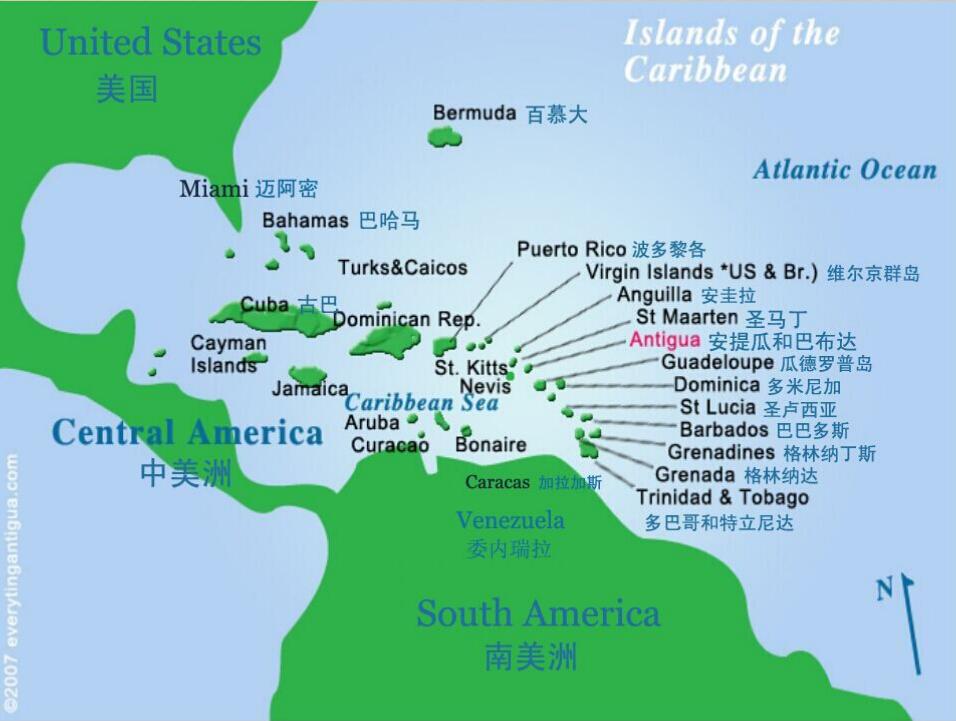 年度倾情打造:加勒比海安提瓜投资入籍计划项目  三个月换护照,免签畅游138个国家