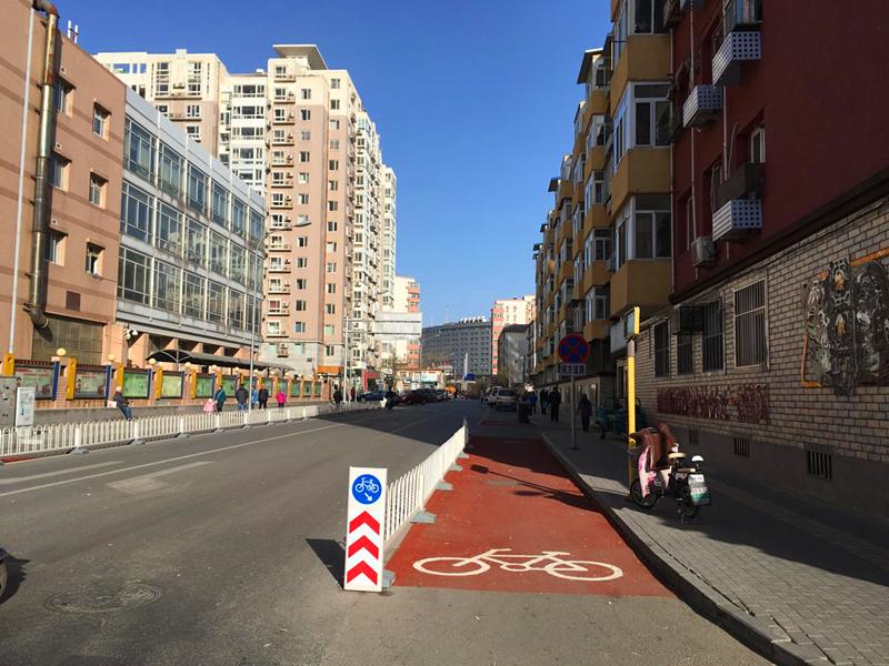 槐柏树后街慢行系统改造