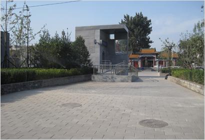 宣武门地铁外围景观铺装工程