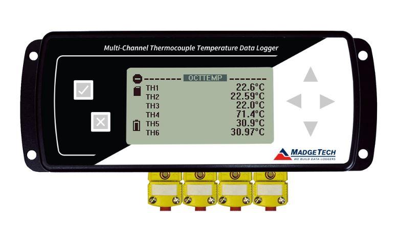 八通道熱電偶溫度記錄儀(配LCD屏)