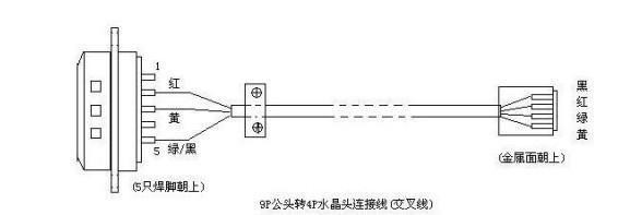 4针水晶头rs232串口接线图