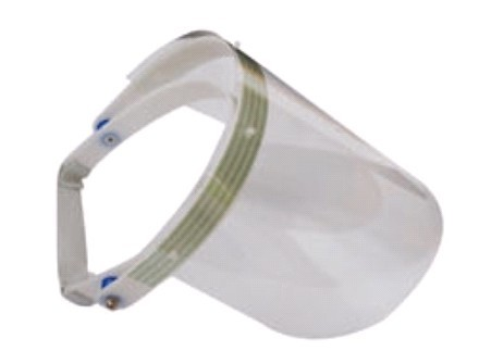 带锲片的面罩