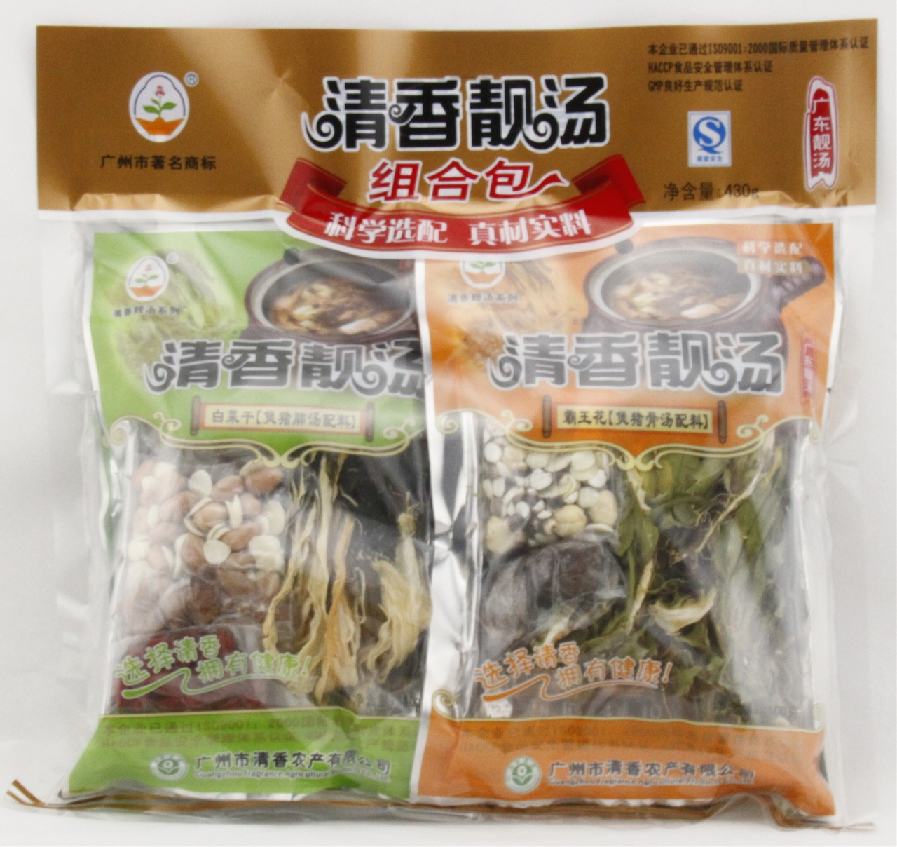 粤清香组合汤料(白菜干、霸王花、苦瓜干、西洋菜干)