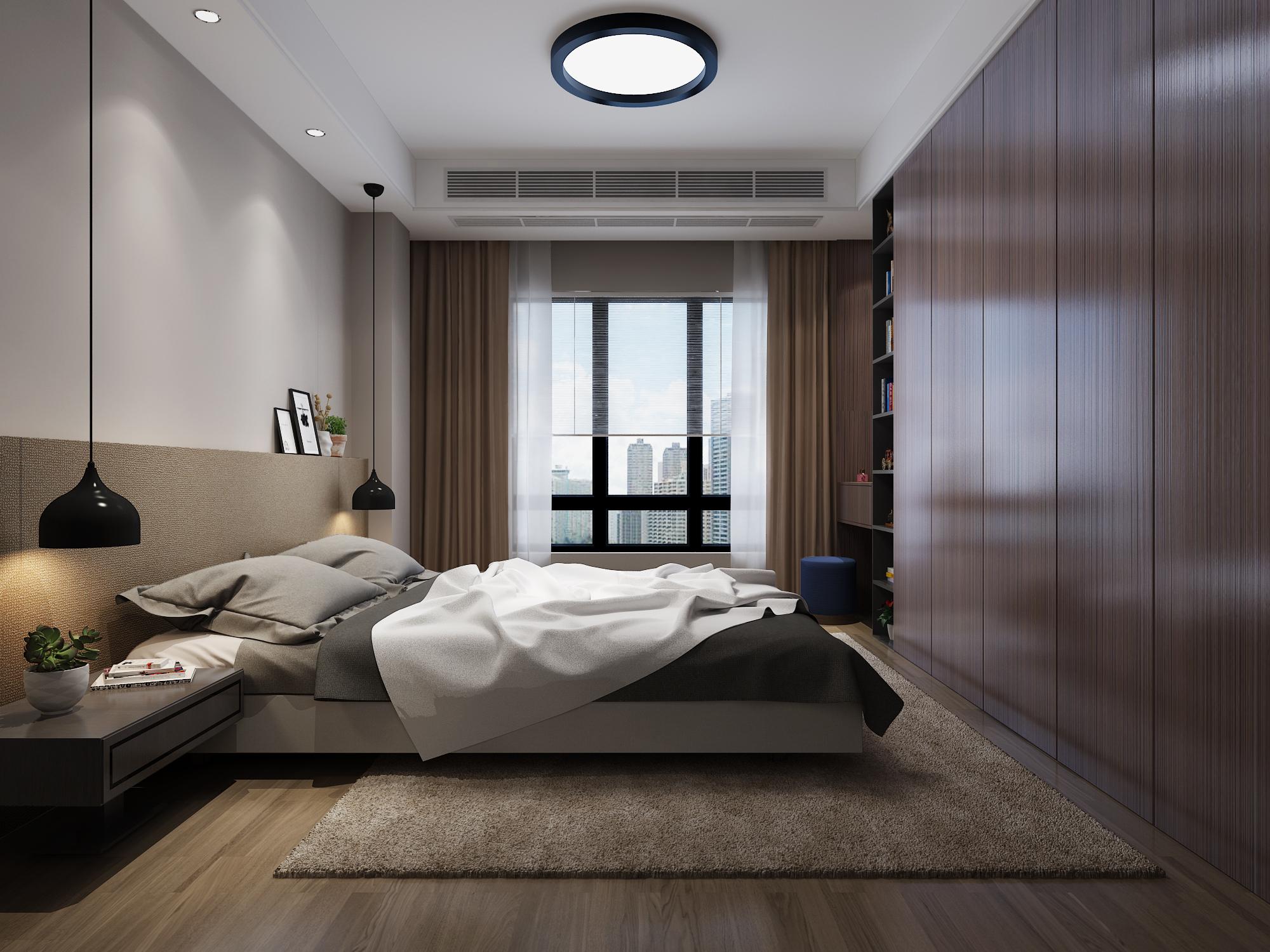 4平方卧室设计效果图