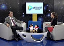 陈枢主任律师正在接受腾讯网视频采访