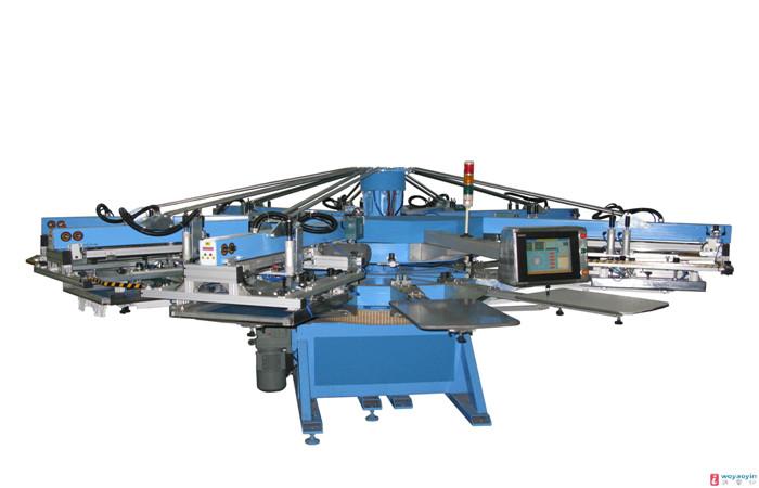 新型转盘式印花机
