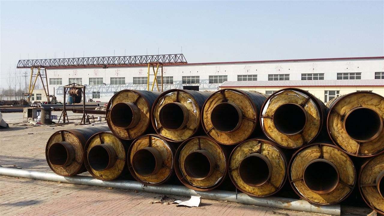 郑州市市政热力供热管网聚氨酯直埋保温管案例