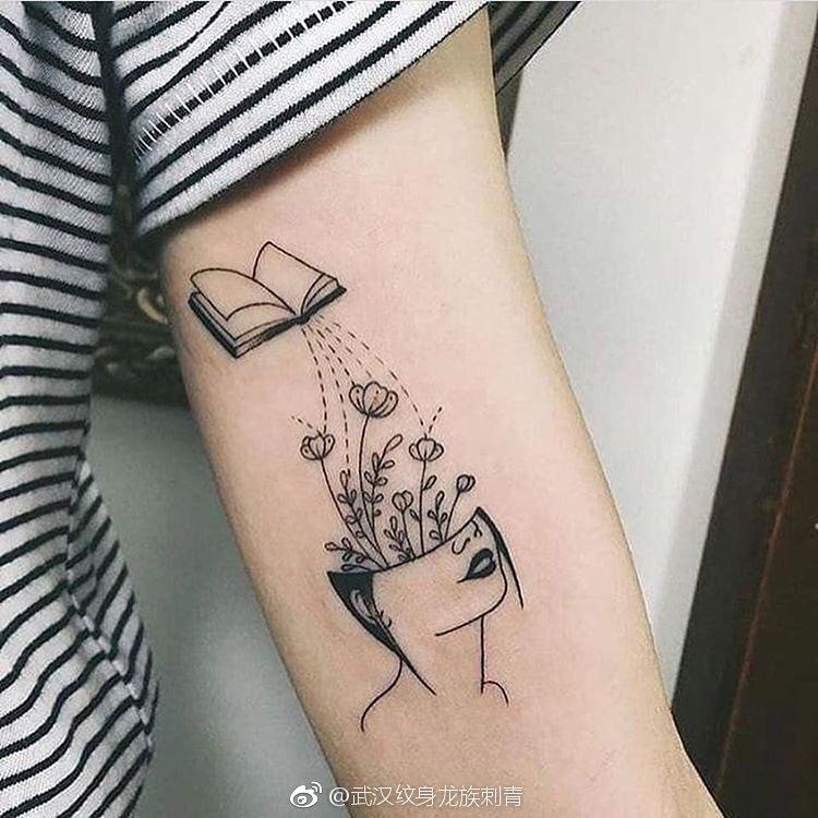 手臂内侧抽象纹身 暗黑大脑纹身 武汉龙族纹身