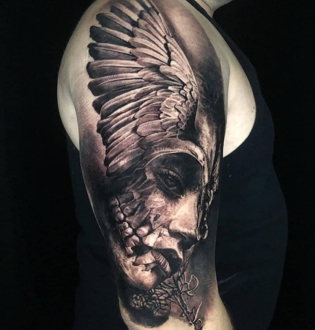 """暗黑纹身,可能就是传说中""""妈见打""""纹身,武汉龙族纹身老店"""