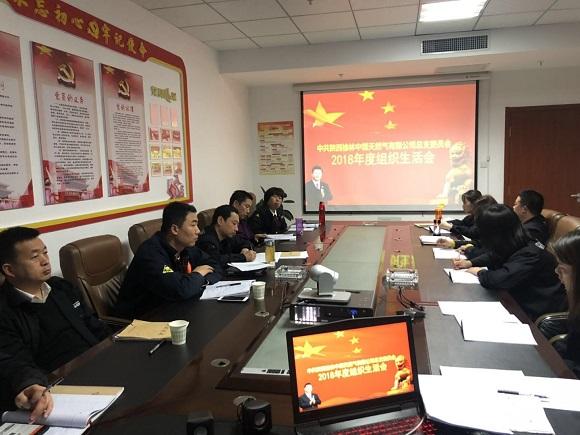 陕西榆林中燃天然气有限公司召开2018年度组织生活会