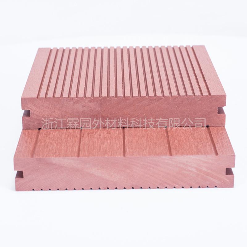 霖园外 实心地板   塑木地板 户外生态木地板