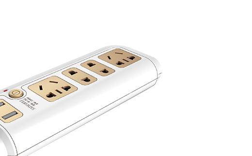 2015年四川工業設計的智能插座,自帶USB接口,安全保護,完成設計、開模、量產。