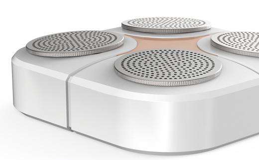2016年,成都埃森设计的4弹烟雾报警器,目前已经完成造型设计、结构设计和开模量产