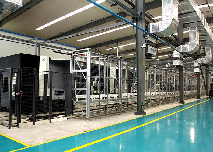 大齿公司牧野FMC柔性制造生产线-壳体二线