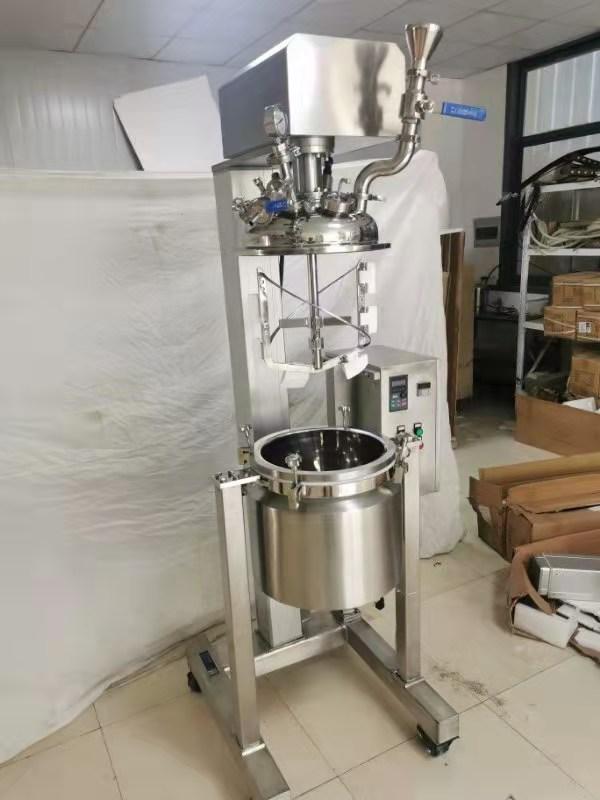 100万CP 强力混合系统、高粘度挂壁搅拌反应釜、电动升降强力搅拌反应器