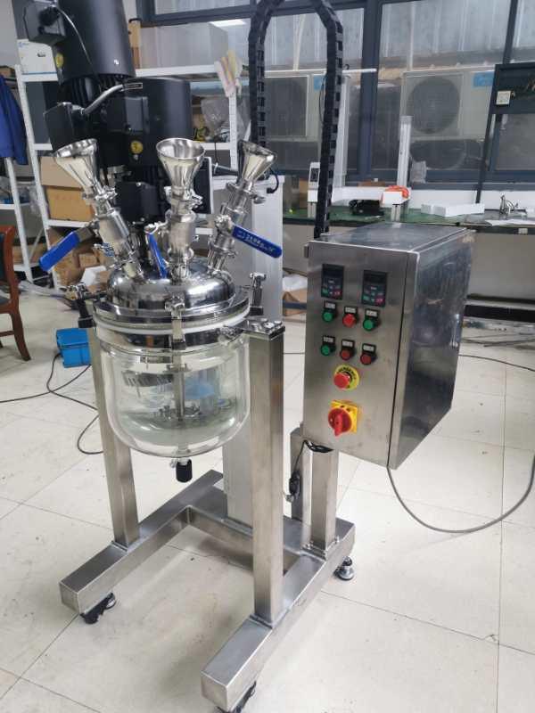 超高速剪切研磨反应釜,超高速分散剪切反应器,可视真空乳化分散釜